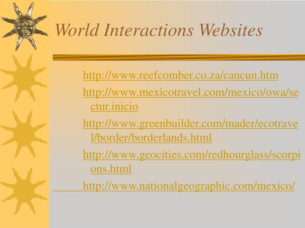 World Interactions Websites