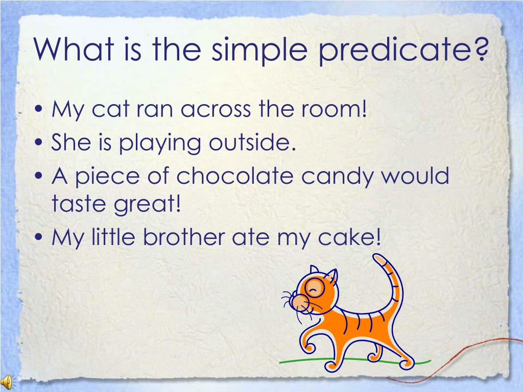 What is the simple predicate?