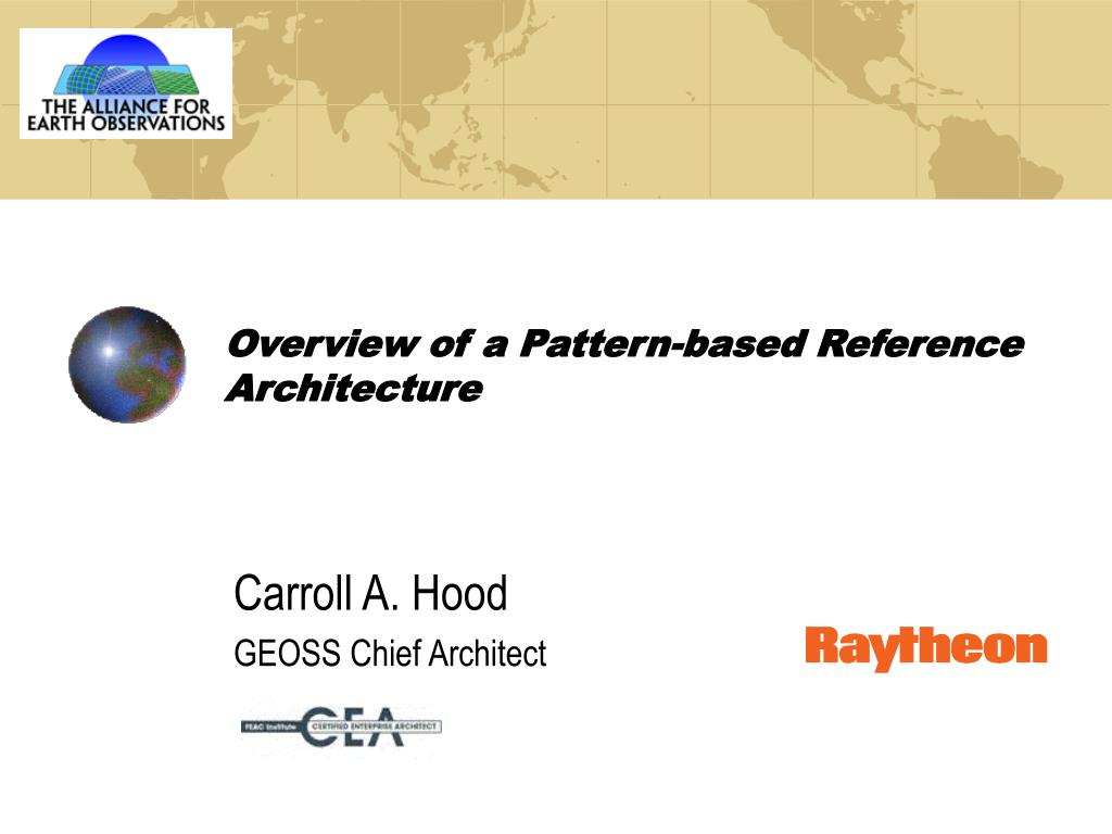 overview of a pattern based reference architecture l.