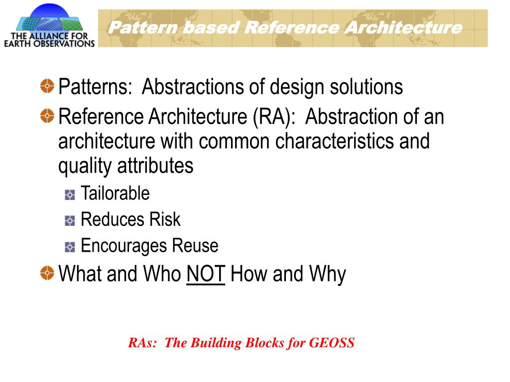 Pattern based Reference Architecture