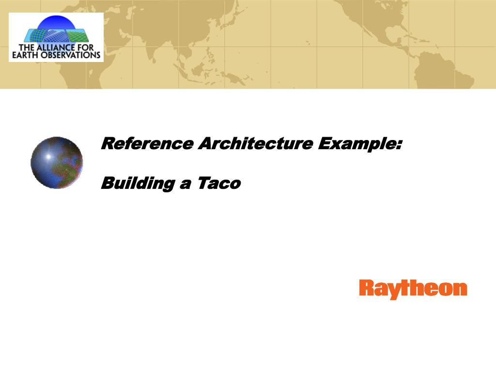 Reference Architecture Example: