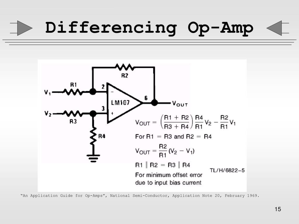 Differencing Op-Amp