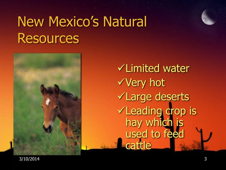 New mexico s natural resources