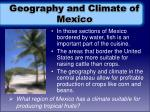 geography and climate of mexico