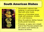 south american dishes