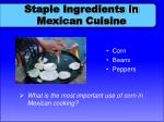 staple ingredients in mexican cuisine