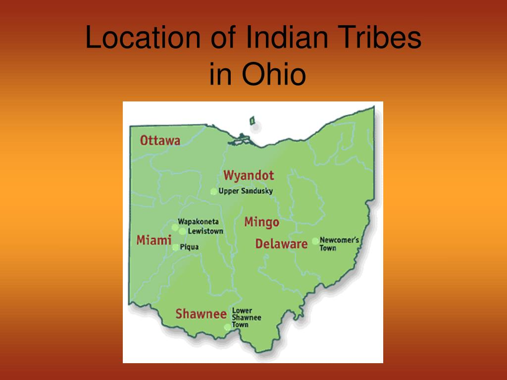 Location of Indian Tribes