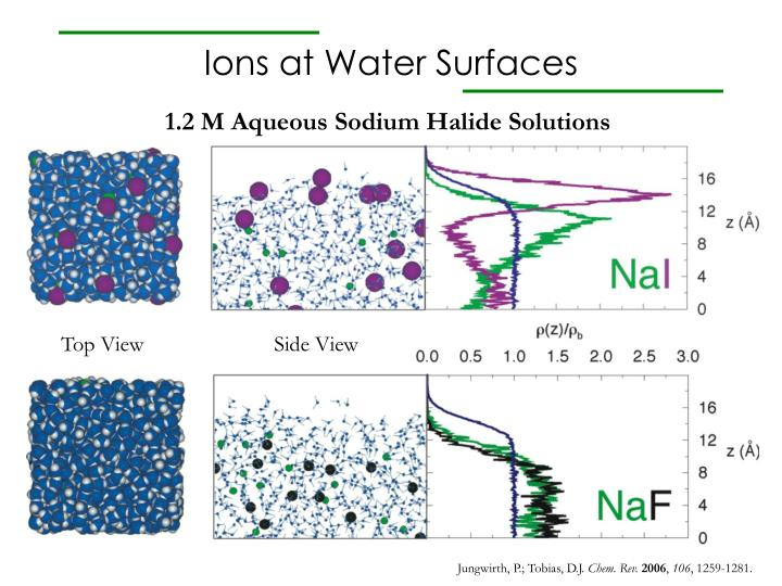 ions at water surfaces n.