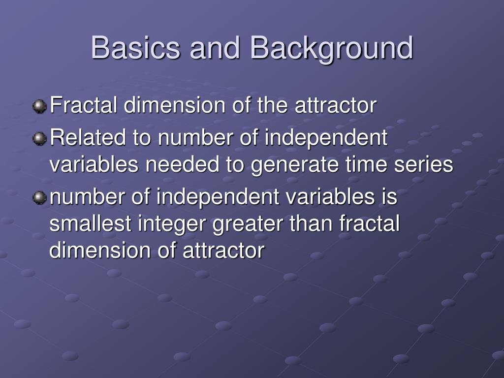 Basics and Background