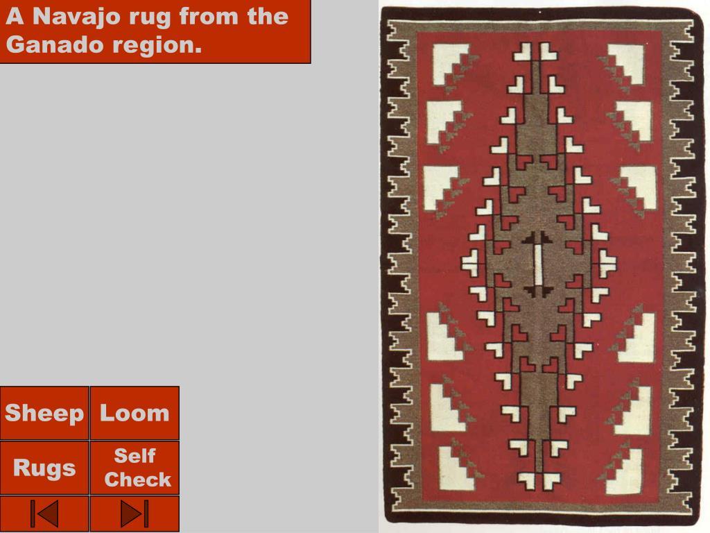 A Navajo rug from the Ganado region.