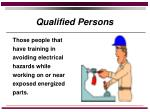 qualified persons