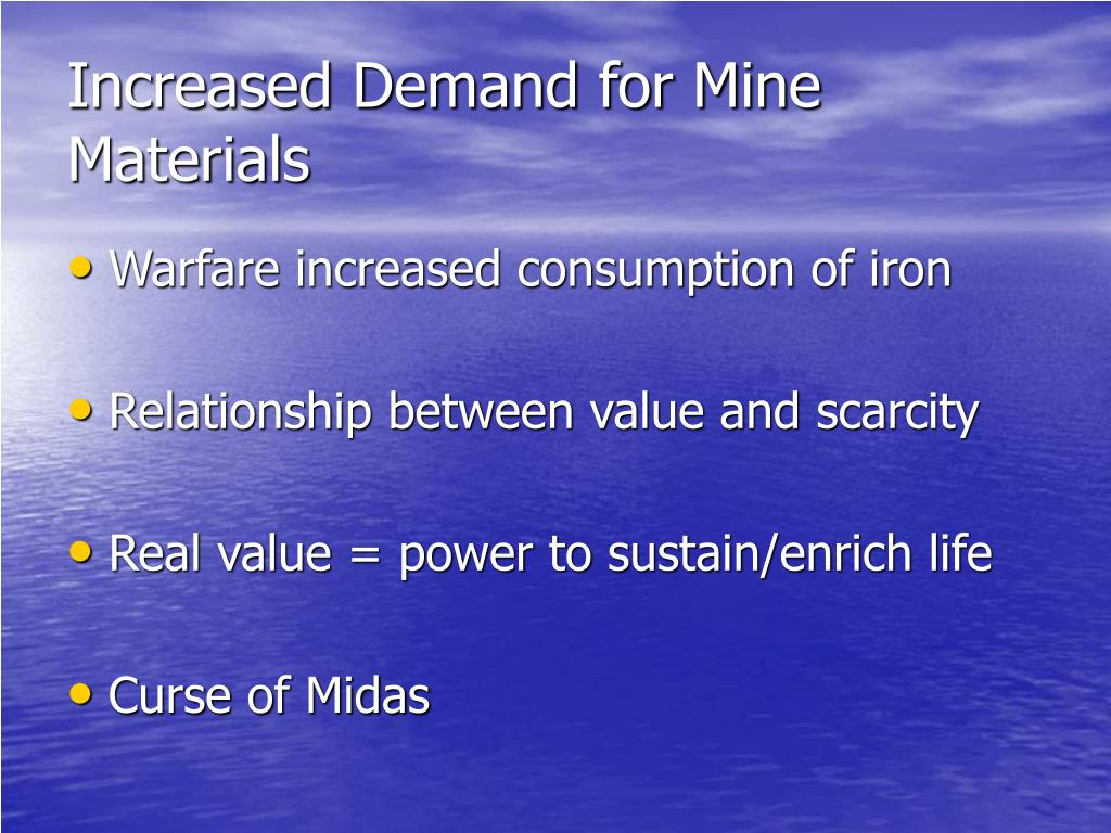 Increased Demand for Mine Materials