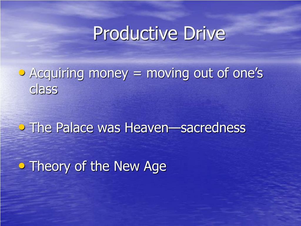 Productive Drive