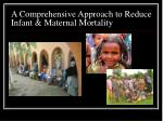 a comprehensive approach to reduce infant maternal mortality