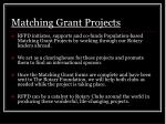 matching grant projects