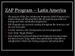 zap program latin america