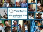 net impact issues in depth april 22 2009