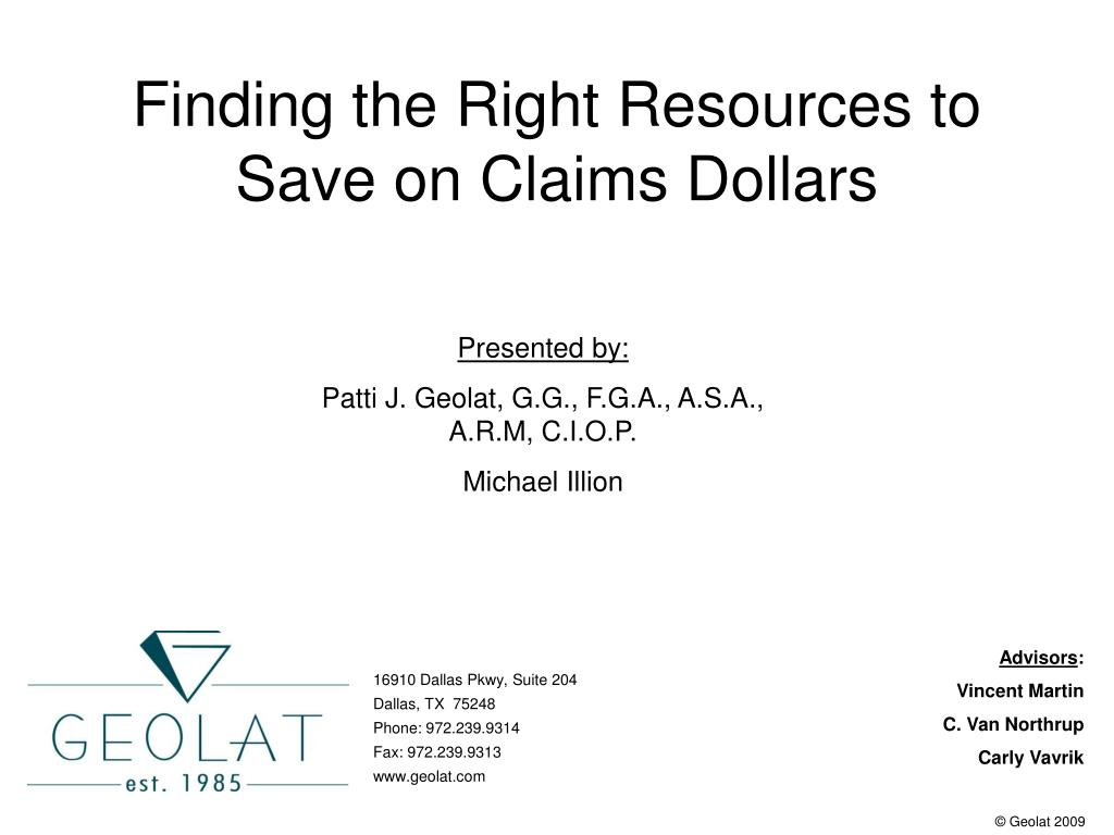 finding the right resources to save on claims dollars l.