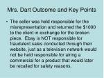 mrs dart outcome and key points