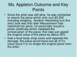 ms appleton outcome and key points