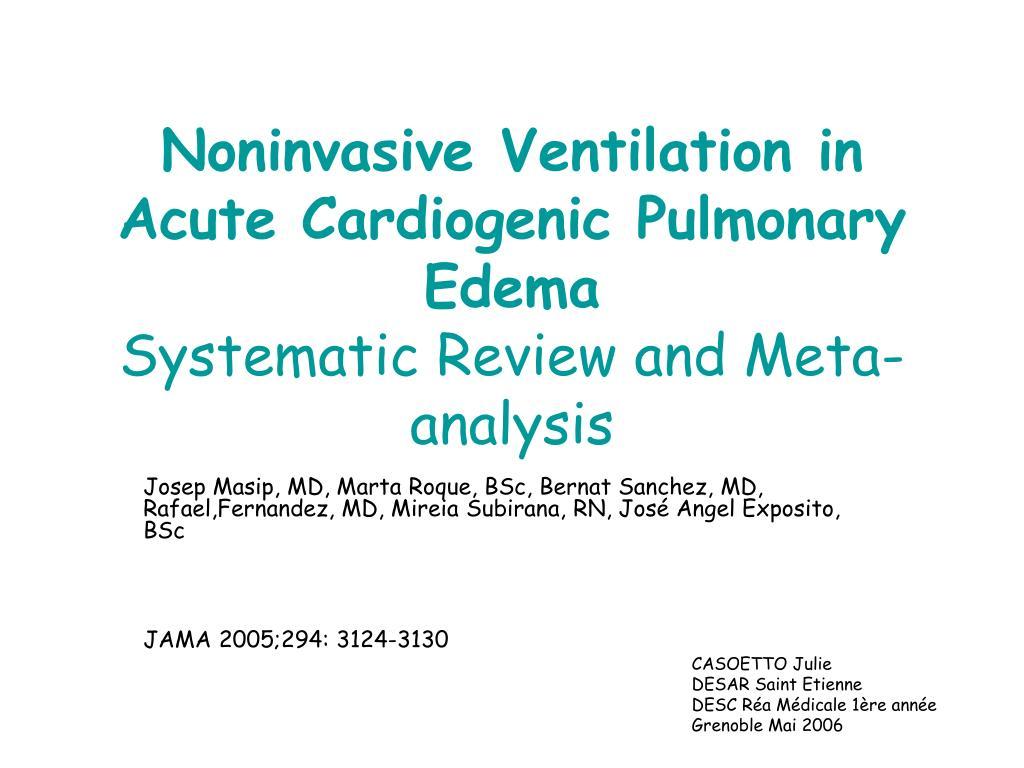 Noninvasive Ventilation in