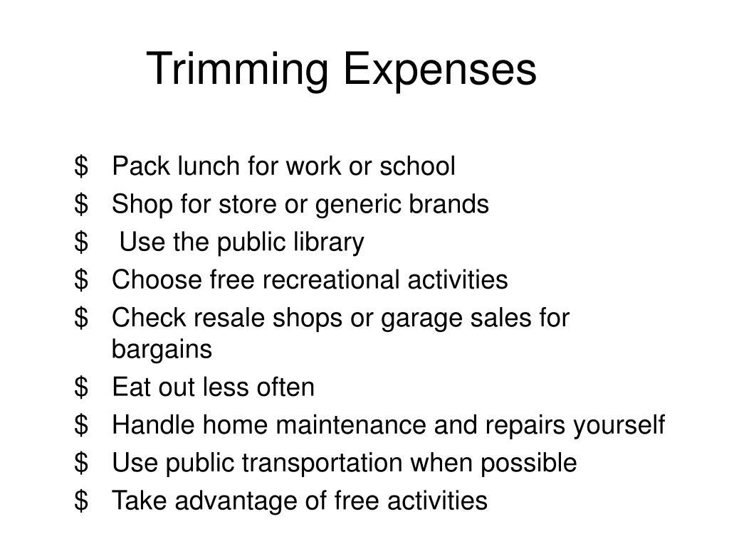 Trimming Expenses