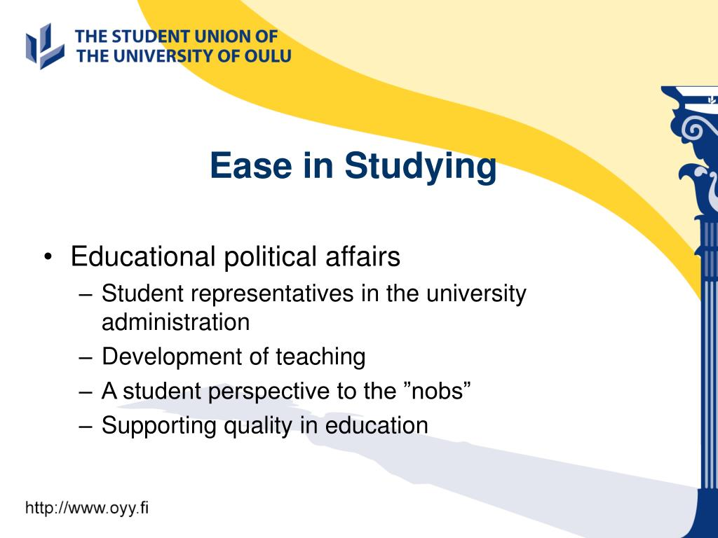 Ease in Studying