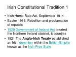 irish constitutional tradition 1
