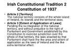 irish constitutional tradition 2 constitution of 1937
