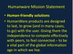 humanware mission statement
