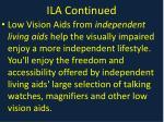 ila continued