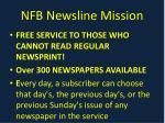 nfb newsline mission