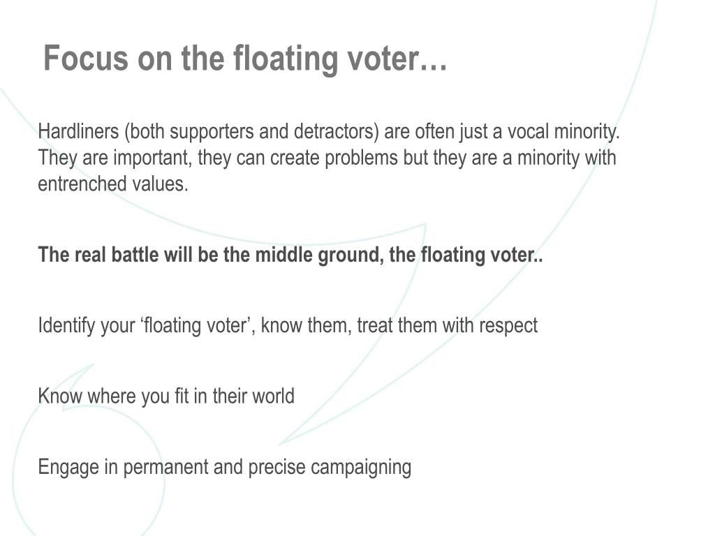 Focus on the floating voter…