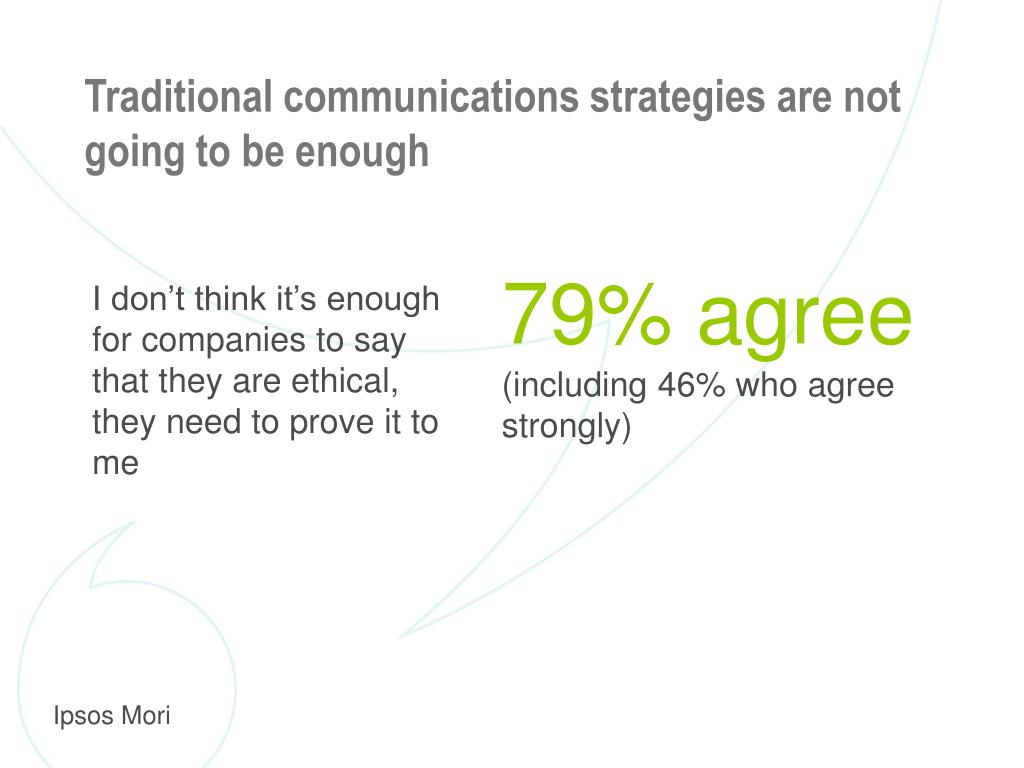 Traditional communications strategies are not going to be enough