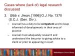 c ases where lack of legal research discussed8