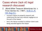cases where lack of legal research discussed