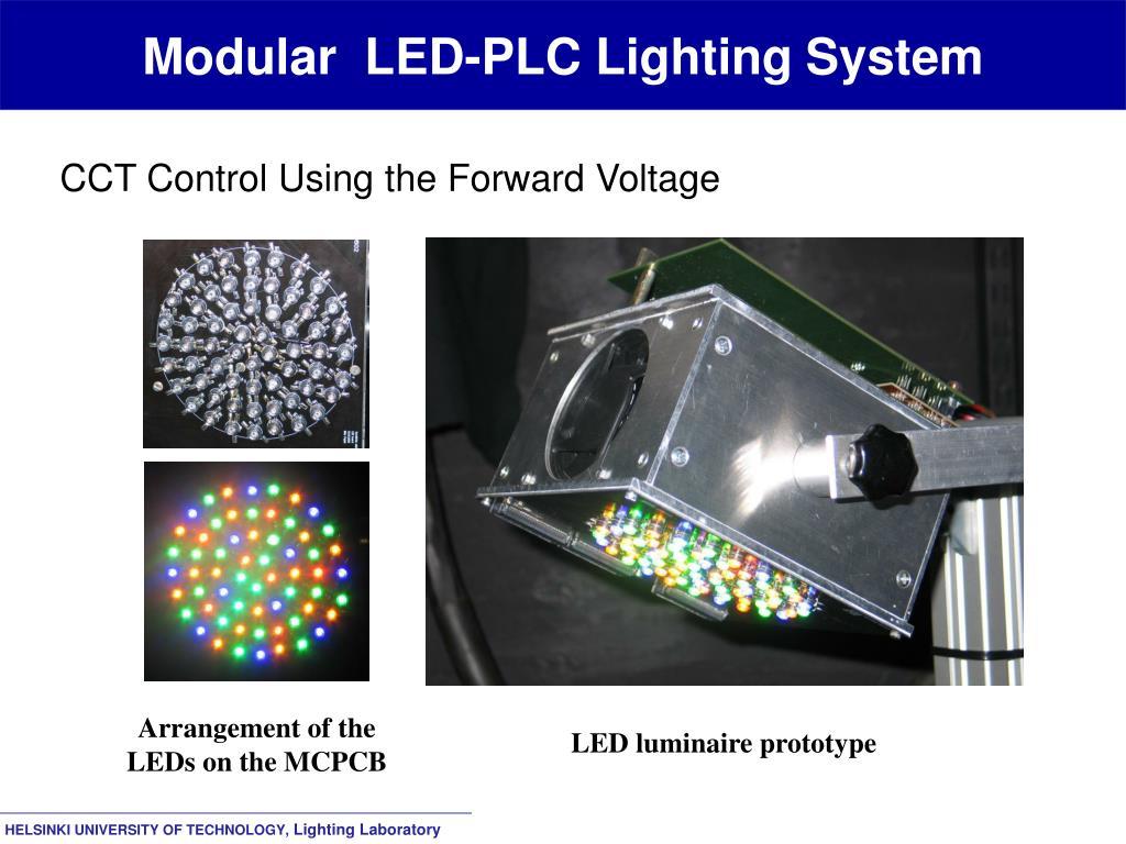 Modular  LED-PLC Lighting System
