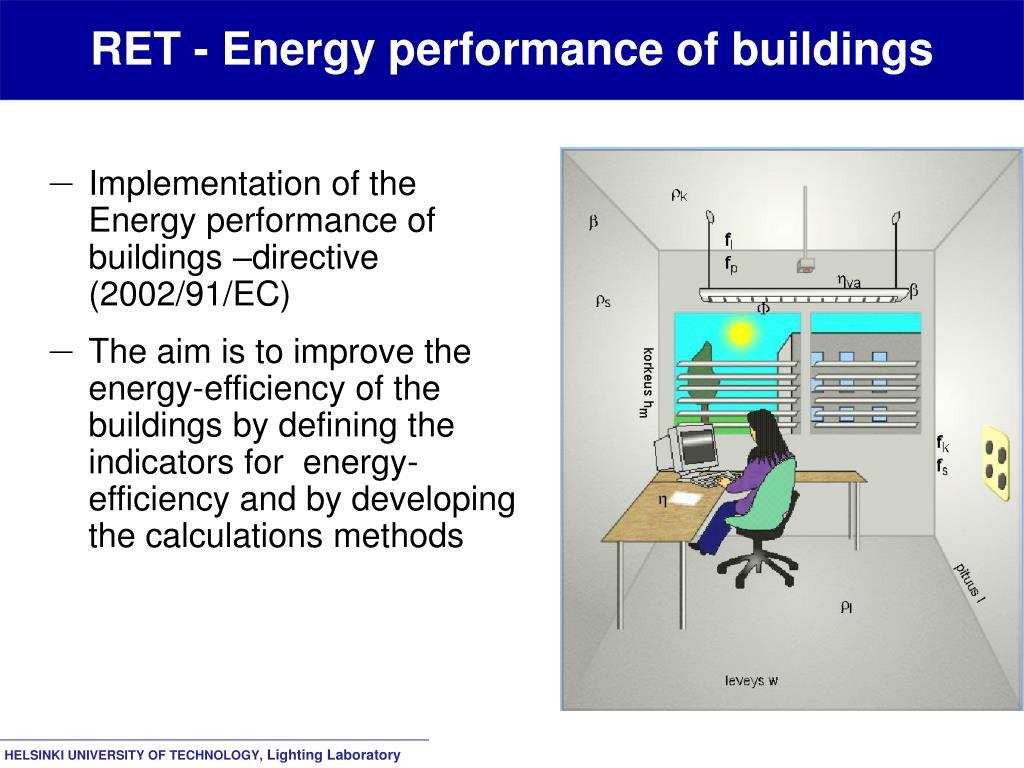 RET - Energy performance of buildings