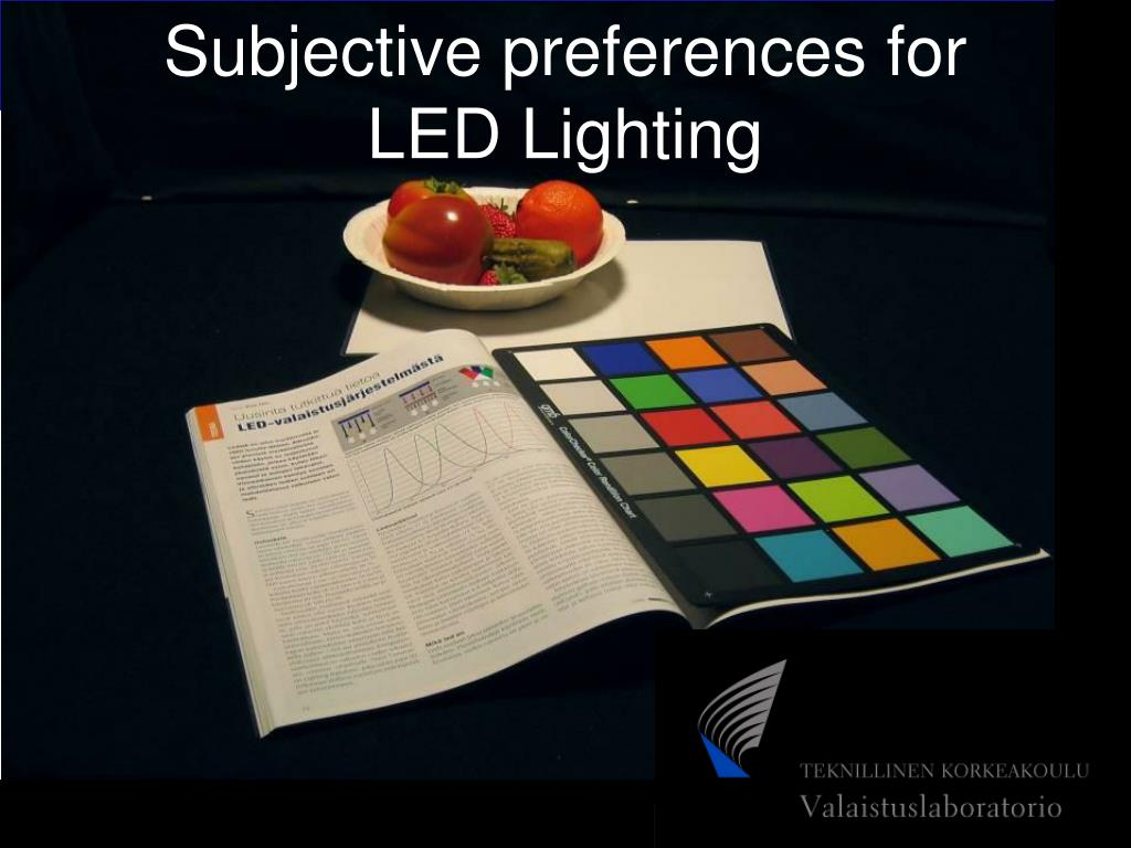 Subjective preferences for LED Lighting