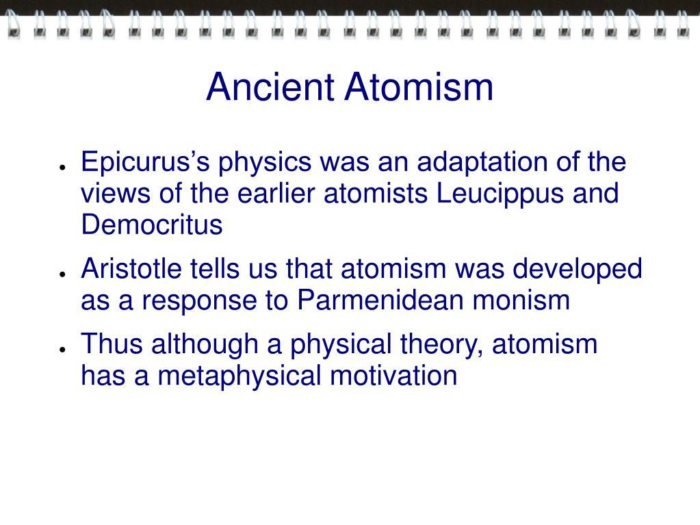 Ancient Atomism
