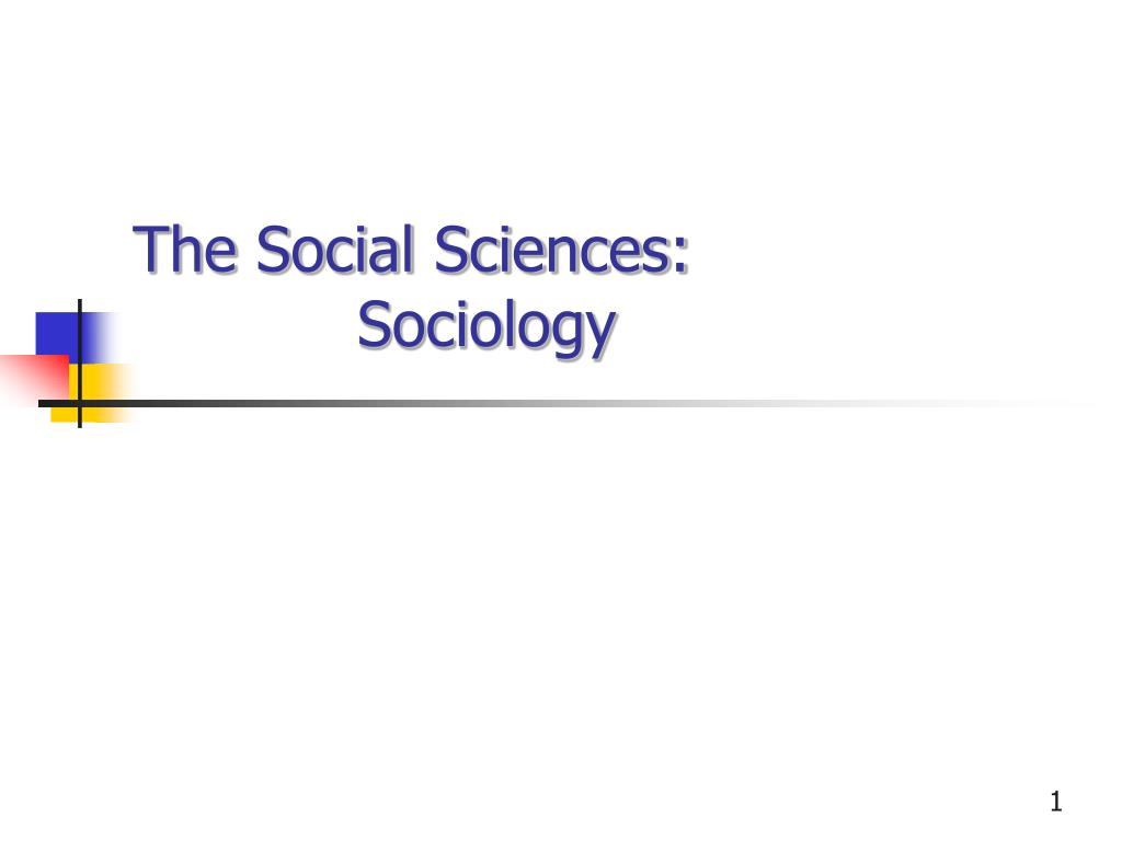 the social sciences sociology l.