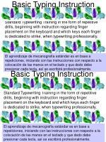 basic typing instruction