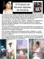 el projecto de novelas digitales de artcamp