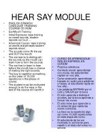 hear say module