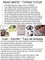 read write typing tutor
