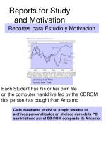reports for study and motivation