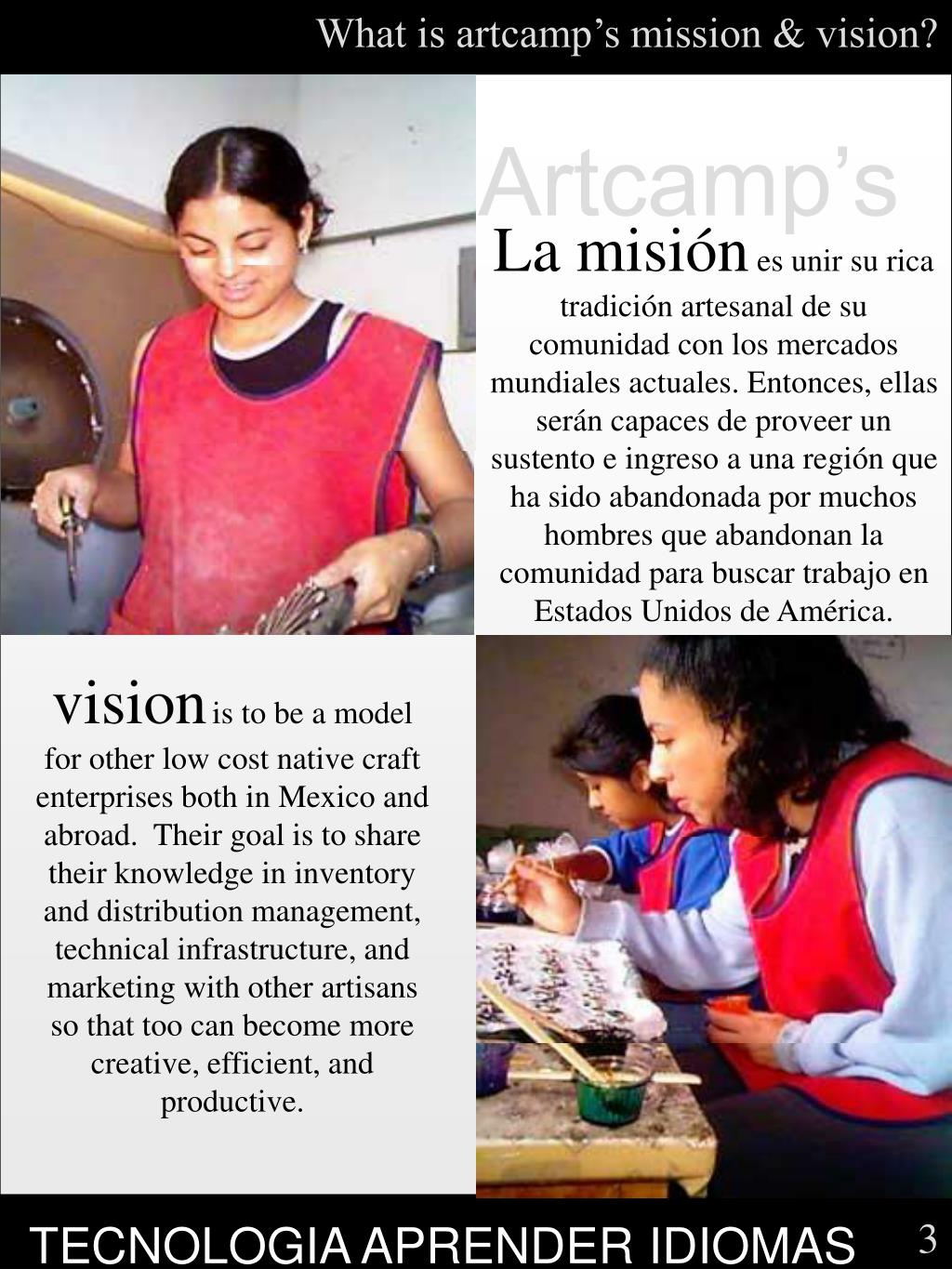 What is artcamp's mission & vision?