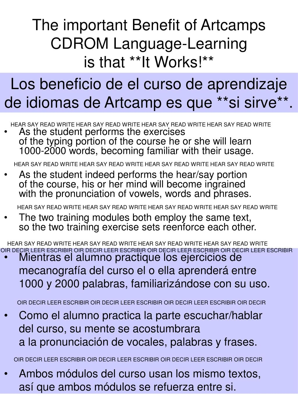 The important Benefit of Artcamps CDROM Language-Learning