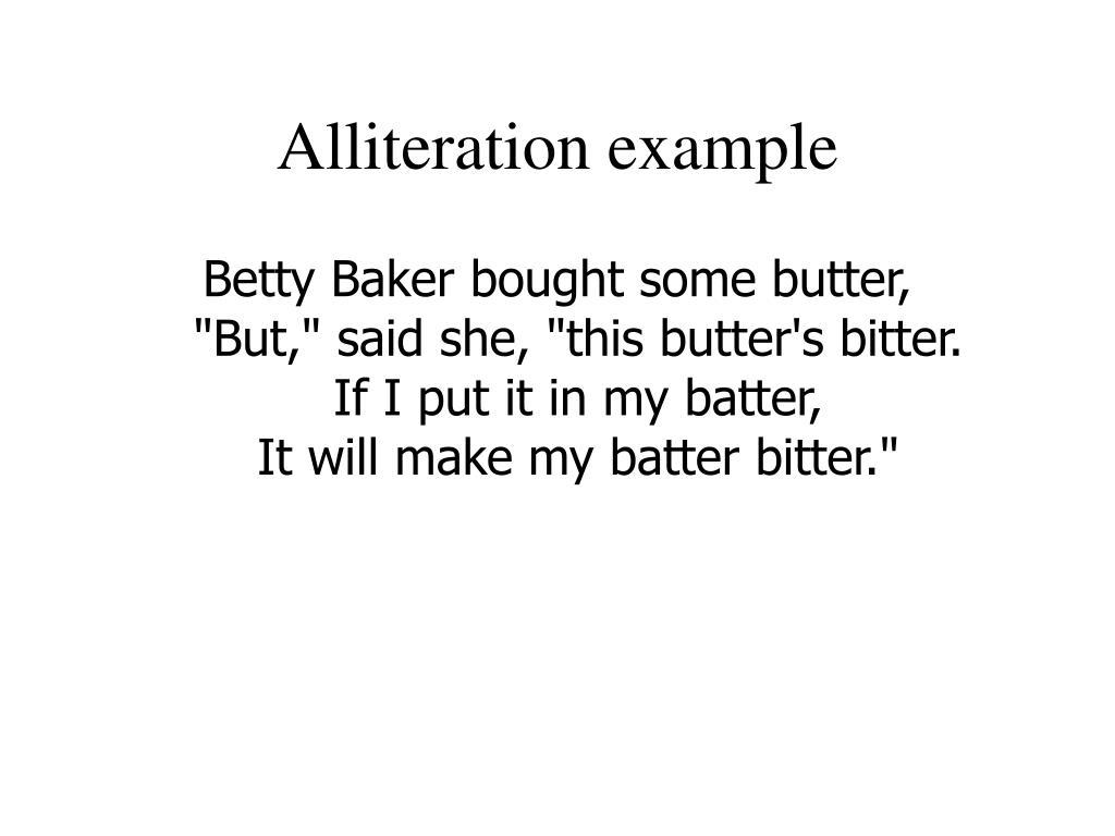 Alliteration example