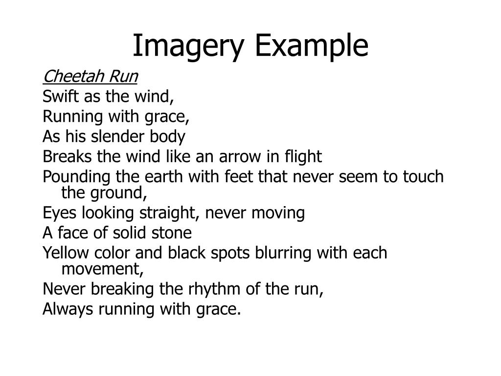 Imagery Example